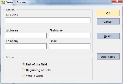 Selecting Addresses