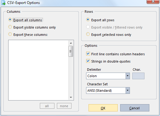 Export Addresses