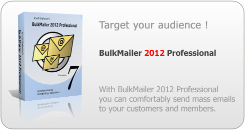 BulkMailer Professional: Send your newsletters and other bulk emails with this reliable mailer.